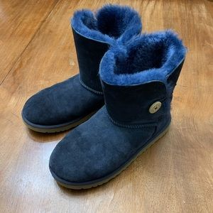 Ugg Bailey Button Navy Blue Boots